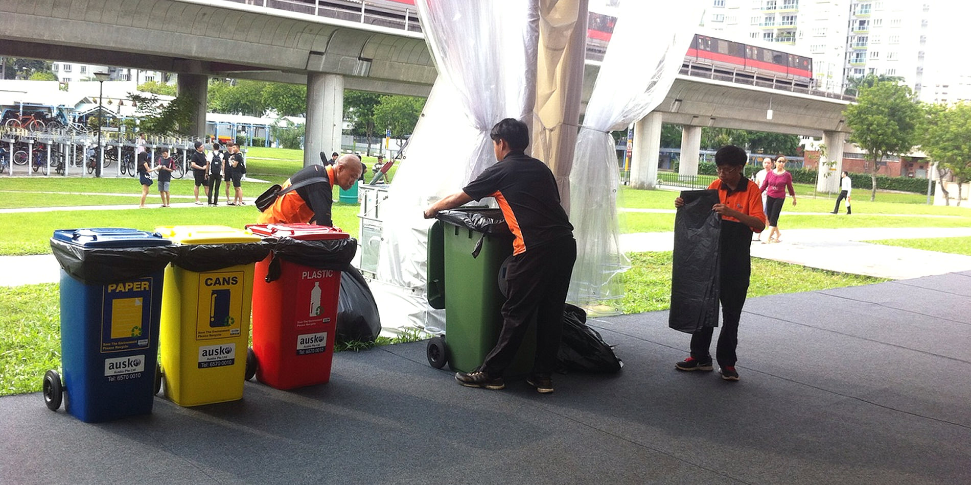 Qool Enviro event cleaning at one of the outdoor events large