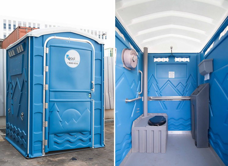 Qool Enviro physically challenged portable toilet