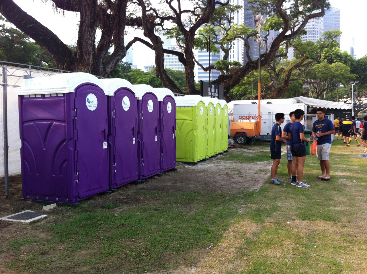 Qool Enviro portable toilet in rugby 7s 1
