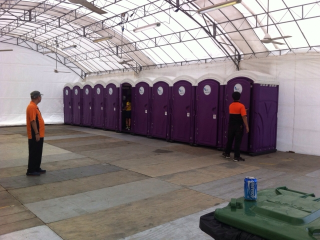 Qool Enviro portable toilet in rugby 7s 5
